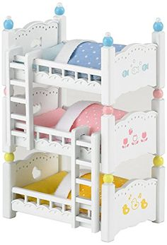 Assorted colors Action- & Spielfiguren Sylvanian Families Triple Bunk Beds