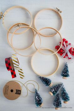 Adorable Christmas Tree Ornaments are super easy and inexpensive to make!  A fun Christmas decor idea!