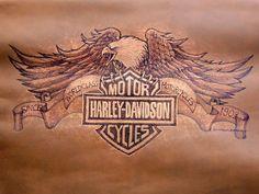 Harley Davidson eagle & emblem by Donald Barnett, via Flickr