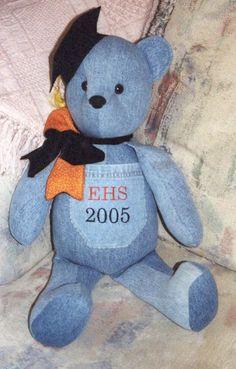 Handmade Teddy Bear for graduation to autograph or by NiceThreads, $85.00