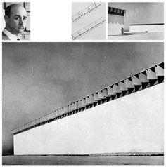 The face of the architect ~ Miguel Fisac Serna Bodegas San Patricio for Garvey S. A. (industrial building) Jerez de la Frontera - Cádiz, Andalusia, Spain; 1967-69 see map | information 1, 2