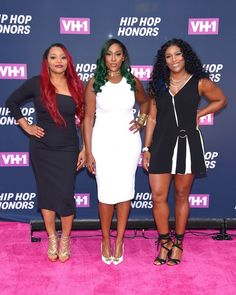 "Leanne ""Lelee"" Lyons, Cheryl ""Coko"" Gamble, and Tamara ""Taj"" George of Sisters With Voices attend the VH1 Hip Hop Honors: All Hail The Queens at David Geffen Hall on July 11, 2016 in New York City."