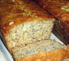Banana Bread Sweet and fluffy. Made this one this week. Seriously the best recipie I've found!