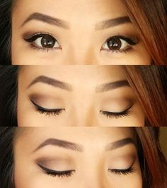 Tutorial: neutral eyes look for hooded eyes, monolids, or those with little lid…