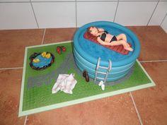 dort  - bazén / cake - Pool: