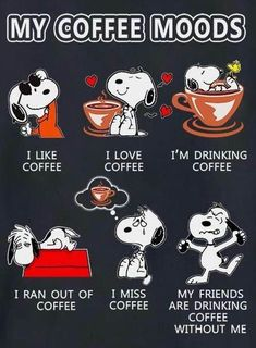 Snoopy vs coffee: discover Snoopy's moods as well as a beautiful Snoopy made of foam on a cup of coffee. The post Snoopy vs Coffee (coffee art & moods) appeared first on Didier J. Coffee Art, I Love Coffee, Coffee Cups, Coffee Beans, Hot Coffee, Iced Coffee, Coffee Creamer, Starbucks Coffee, Black Coffee