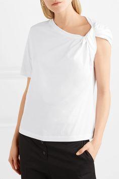 Dion Lee   Twist-front cotton-jersey #tshirt