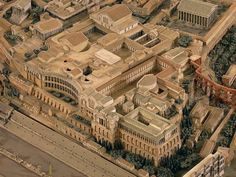 Artist's concept of the Domus Augustana, next to the Circus Maximus and the Domus Severiana, Palatine Hill, Rome.