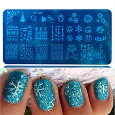 1pcs+Hot+Sale+Beautiful+Snowflake+Lovely+Design+DIY+Fashion+Stamping+Plate+Nail+Stainless+Steel+Stamping+Plate+Polish+Manicure+Beauty+Stencils+XY-J28+–+USD+$+1.78