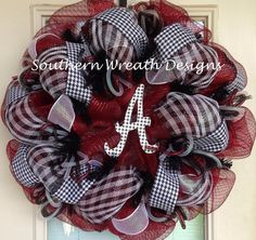 Alabama+College+Sports+Mesh+Deco+Wreath+by+SouthernWreathDesign,+$80.00