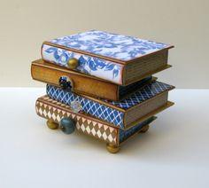 Scatole portagioie cassetti a forma di libri-4