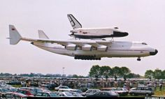 Antonov AN225 (piggybacking the Russian copy of the space shuttle called the Buran)
