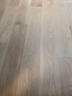 White Oak Floors With Pickled Wash, on & Wiped Off then ultra matte Bona HD Modern Wood Floors, Living Room Hardwood Floors, Maple Hardwood Floors, Hardwood Floor Colors, Oak Laminate Flooring, Timber Flooring, Flooring Ideas, Grey Laminate, Parquet Flooring