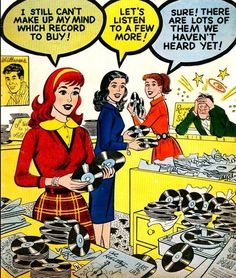Record store girls (vinyl records in comics)