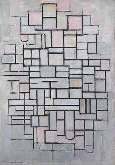 Piet Mondrian Composition No. IV (Compositie No. IV), 1914 Olieverf op doek 88 x 61 cm Gemeentemuseum Den Haag Piet Mondrian, Mondrian Kunst, Paintings Famous, Famous Art, Abstract Painters, Abstract Art, Centre Pompidou, Modigliani, Dutch Artists