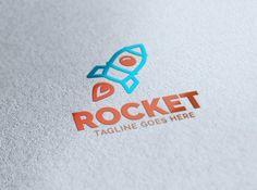 Rocket Logo by eSSeGraphic on @creativemarket