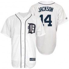 Detroit Tigers #14 Austin Jackson White Replica Baseball Jersey_Austin Jackson Baseball Jersey