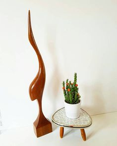 Bekijk dit items in mijn Etsy shop https://www.etsy.com/nl/listing/511200398/vintage-wooden-heron-xxl-sixties-iconic