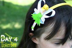 Grosgrain: Day 4: Tinkerbell Disney Inspired Princess Ribbon Sculpture