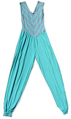 1980's fashion, i remember having an all white one of these with turquoise lightning bolts. Im pretty sure i wore it until i burst the seams! lol