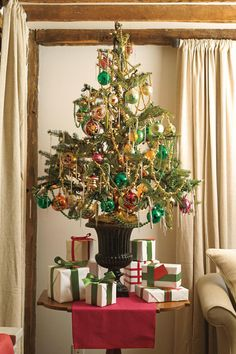 Our Favorite Christmas Trees: Colorful Tabletop Display