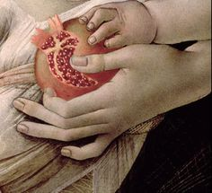 "Sandro Botticelli "" The Madonna and the Nino with Angeles "" ( A very interesting and,should I say,an unexpected detail : a Pomegranate ! Giorgio Vasari, Italian Renaissance, Renaissance Art, Sandro, Renaissance Paintings, Italian Painters, Madonna And Child, Detail Art, Renaissance"
