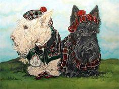 Highland Scottish Terriers!  I heart Westies!