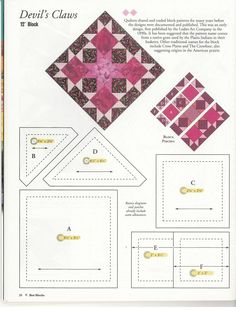 Devil's Claws block pattern from Quilters Newsletter's 50 Best Blocks 2003