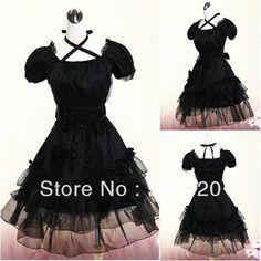 V-1024 Black cotton Classic Halloween costumes Gothic Lolita Dress victorian  dress 9a8de8de7ee8