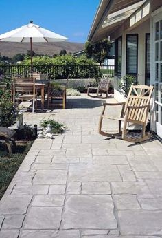 Concepts for small backyard patios are infinite! Do not be discouraged in case your backyard is tiny and also you assume it can not accommodate a tough floor seating space. A patio could be constructed in a nook with ease, Concrete Patio Designs, Cement Patio, Backyard Patio Designs, Diy Patio, Backyard Landscaping, Stamped Concrete Patios, Backyard Ideas, Stamped Concrete Patterns, Stone Patio Designs