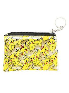 It's clear! Makes it easy to pikachu coins! // Pokemon Pikachu Tossed Coin Purse
