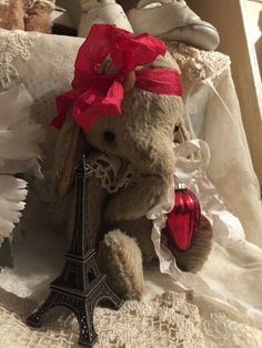 whimsical Christmas Elephant Chrissie is by olivegroveprimitives