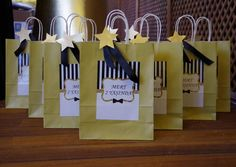 Black White Gold Birthday Party Bag