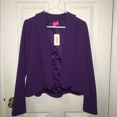 NWT!! Purple/Plum Blazer Brand new! No buttons- meant to stay open. Never worn! Forever 21 Jackets & Coats Blazers