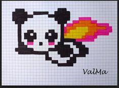 Graph Paper Drawings, Graph Paper Art, Cartoon Drawings, Easy Drawings, Pixel Art Kawaii, Anime Pixel Art, Fuse Bead Patterns, Perler Patterns, Pixel Pattern