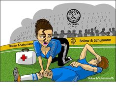 Dr. Eva Carneiro attends to a fallen Chelsea FC player.