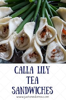 Tea Sandwiches These calla lily tea sandwiches these are a perfect little bite to add to your bridal shower menu.These calla lily tea sandwiches these are a perfect little bite to add to your bridal shower menu. Sandwiches Afternoon Tea, Tea Party Sandwiches, Afternoon Tea Recipes, Tea Sandwich Recipes, Picnic Recipes, Tea Party Menu, Brunch Party, Tapas, Tea Party Bridal Shower