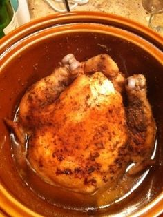 Crock Pot Chicken…okay y'all this was the best chicken that I have ever made! It was SO moist and delicious…best part..EASY!