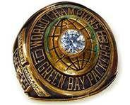 1966 - Superbowl Greenbay Packers Championship ring beat Kansas City