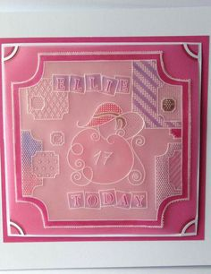 Lady in hat baby plate Groovi card created by Claire Kittow