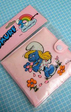Vintage 1980s Smurfette SMURF Wallet by Peyo by unicornkids, $40.00