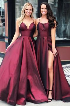 DESCRIPTION A Line Long Prom Dresses Burgundy Long Formal Graduation Evening Dresses This dress could be custom made, there are no extra cost to do custom size and color. Best Formal Dresses, Elegant Dresses, Beautiful Dresses, Formal Gowns, Prom Dresses For Teens, Dress Formal, Straps Prom Dresses, Long Prom Gowns, Bridesmaid Dresses