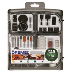 Dremel 180 Pieces All Purpose Rotary Accessory Kit Ace