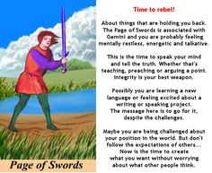 PAGE OF SWORDS #tarotcardmeaning