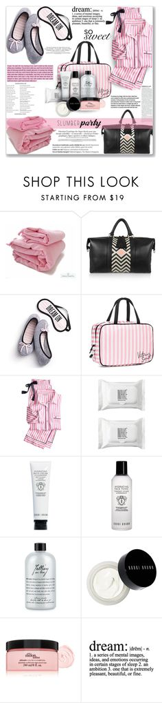 """Sharing secrets"" by mood-chic ❤ liked on Polyvore featuring Eddie Harrop, Victoria's Secret, Make, Bobbi Brown Cosmetics, philosophy, Balmain and slumberparty"