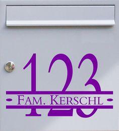 Hausnummer & Wunschtext 01 - Briefkastentattoo - Wunschfarbe - von Design Out Of Norm