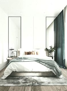 minimalist bedroom decorating ideas for small spaces 7 « Home Design Master Bedroom Layout, Gray Bedroom, Modern Bedroom, Bedroom Decor, Bedroom Ideas, Bedroom Boys, Bedroom Furniture, Home Decor Styles, Cheap Home Decor