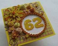 30 compleanno Cross Stitch card quilling 16 21 30 40th 60