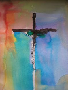 Campfires and Cleats: Artful Friday: Crucifixion Paintings Crucifixion Painting, Crucifixion Of Jesus, Christian Artwork, Christian Crosses, Cross Art, Jesus Art, Biblical Art, Easter Art, Cross Paintings