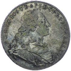 Bayern, Maximilian III. Joseph 1745 - 1777 Madonnentaler 1754 Silber